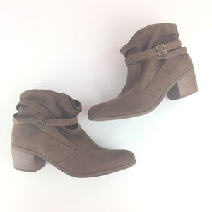 Faux suede slouchy booties size US 12